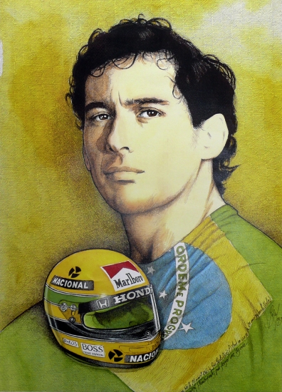 Ayrton Senna par Pastis